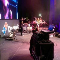 On stage with The Party Rockers, ICC Birmingham
